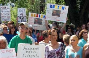 Moralez case protests_CAPTION MATT BROWN-AP